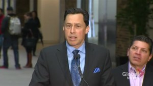Ontario minister Brad Duguid apologizes for blurting out 'fake news' during press conference